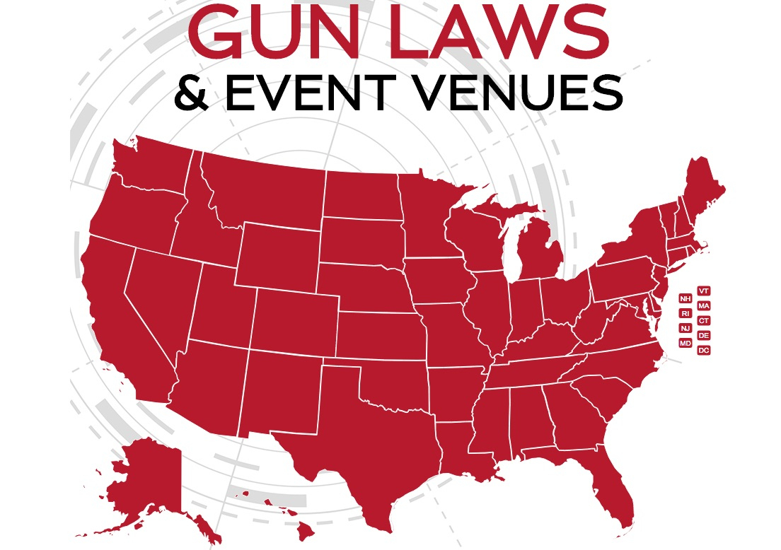 Gun Laws & Event Venues Interactive State-By-State Map - Texas Concealed Carry States Map