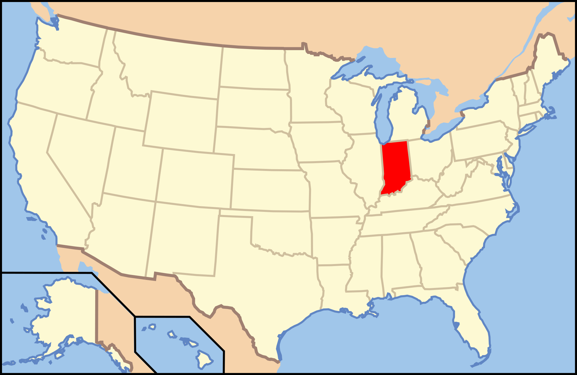 Gun Laws In Indiana - Wikipedia - Texas Chl Reciprocity Map 2018