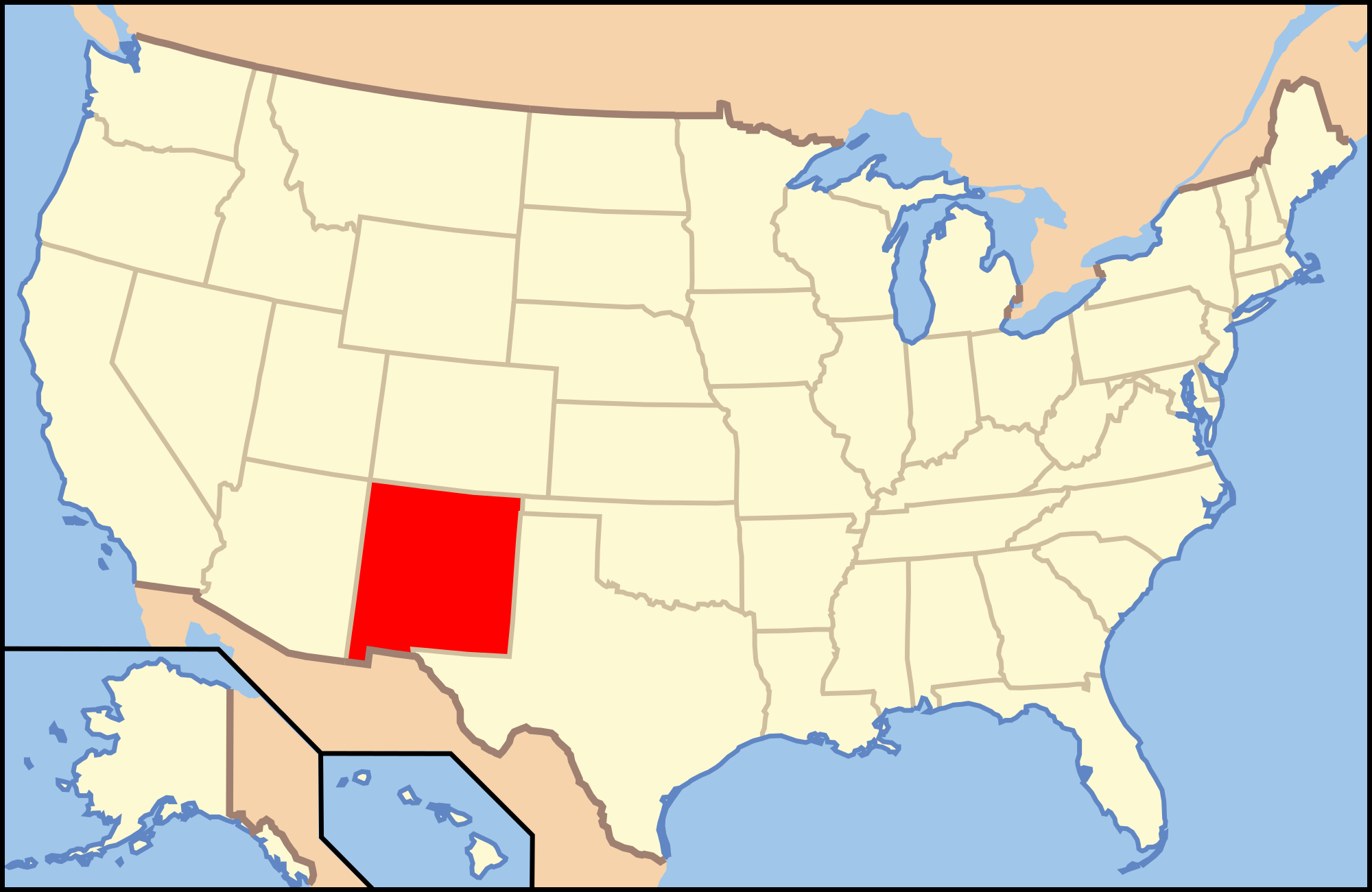 Gun Laws In New Mexico - Wikipedia - Texas Reciprocity Map 2017