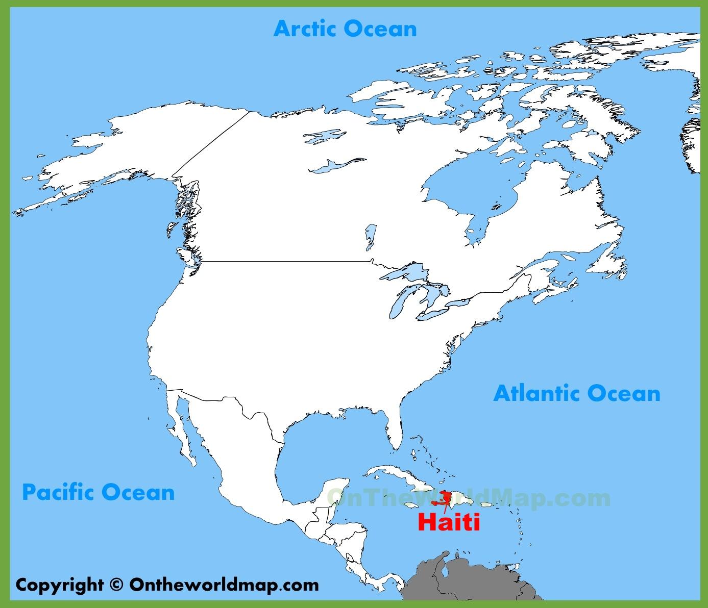 Haiti Location On The North America Map - Printable Map Of Haiti