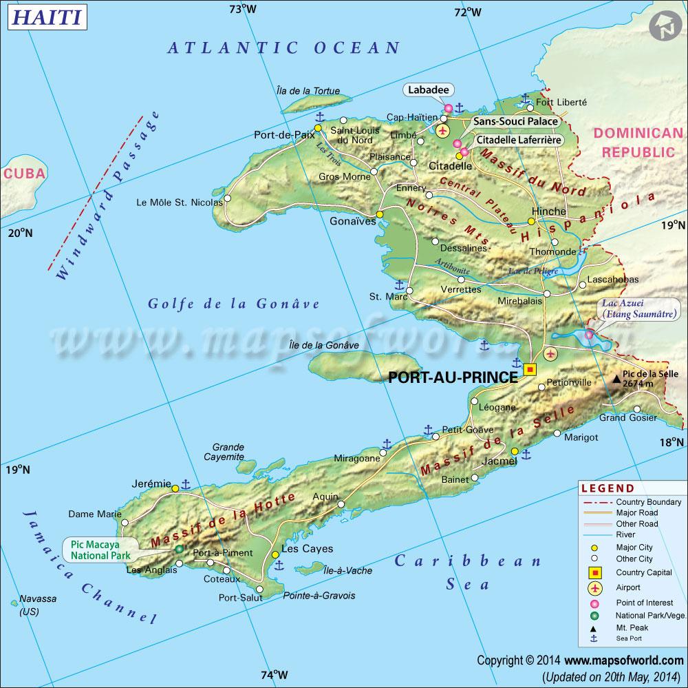 Haiti Map, Map Of Haiti - Printable Map Of Haiti