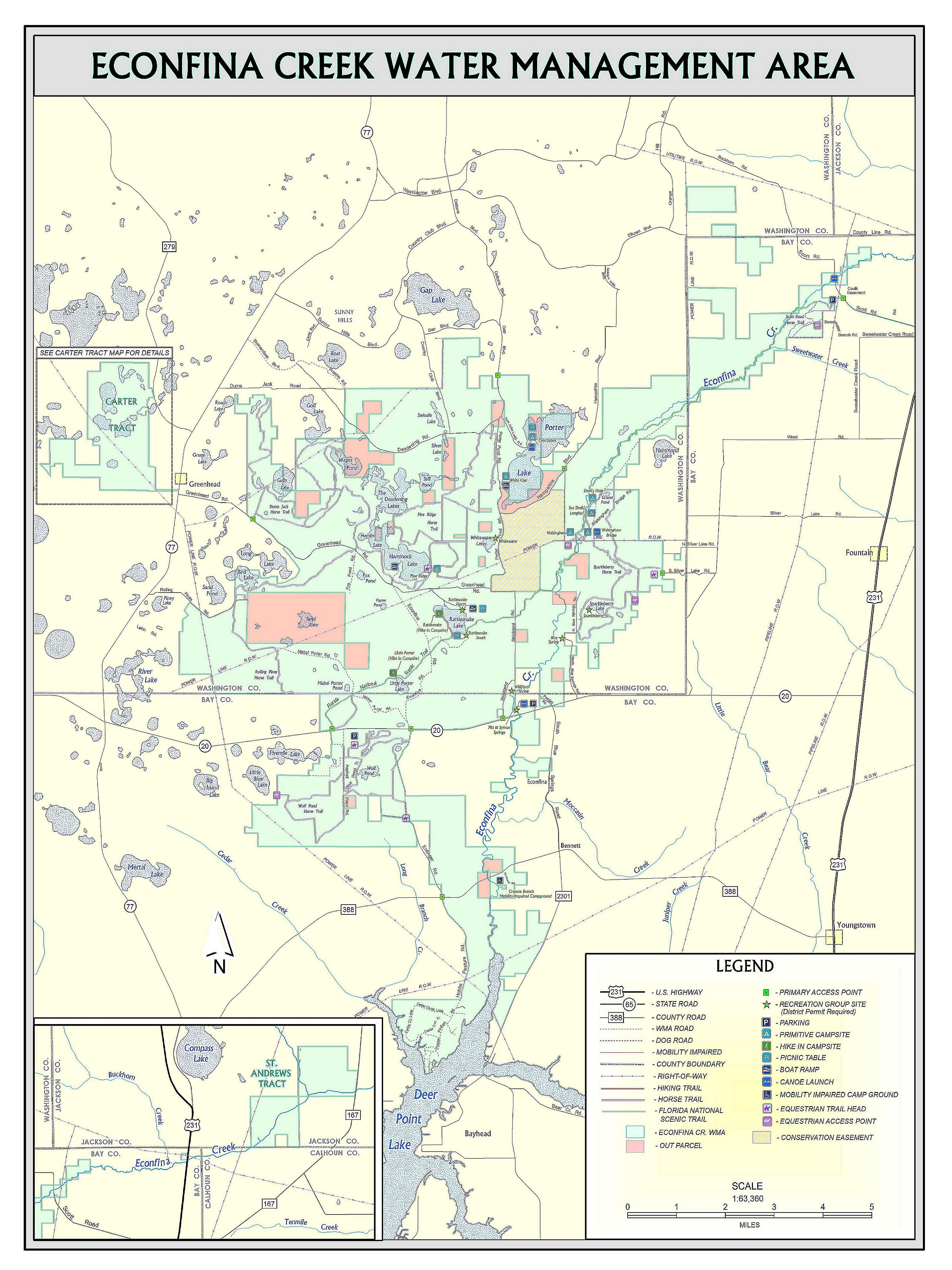 Hammock Lake | Northwest Florida Water Management District - Map Chipley Florida