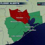 Happening Now: Heavy Rain, Flooding Threatening Houston & Southeast   Spring Texas Flooding Map