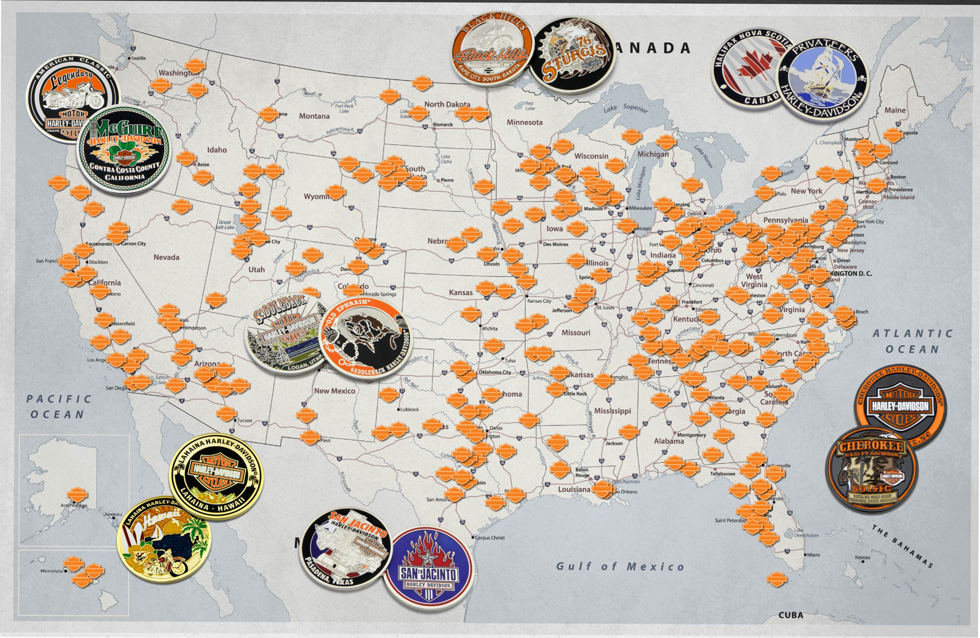 Harley Dealers – Harley Davidson – Symbol Arts - Texas Harley Davidson Dealers Map