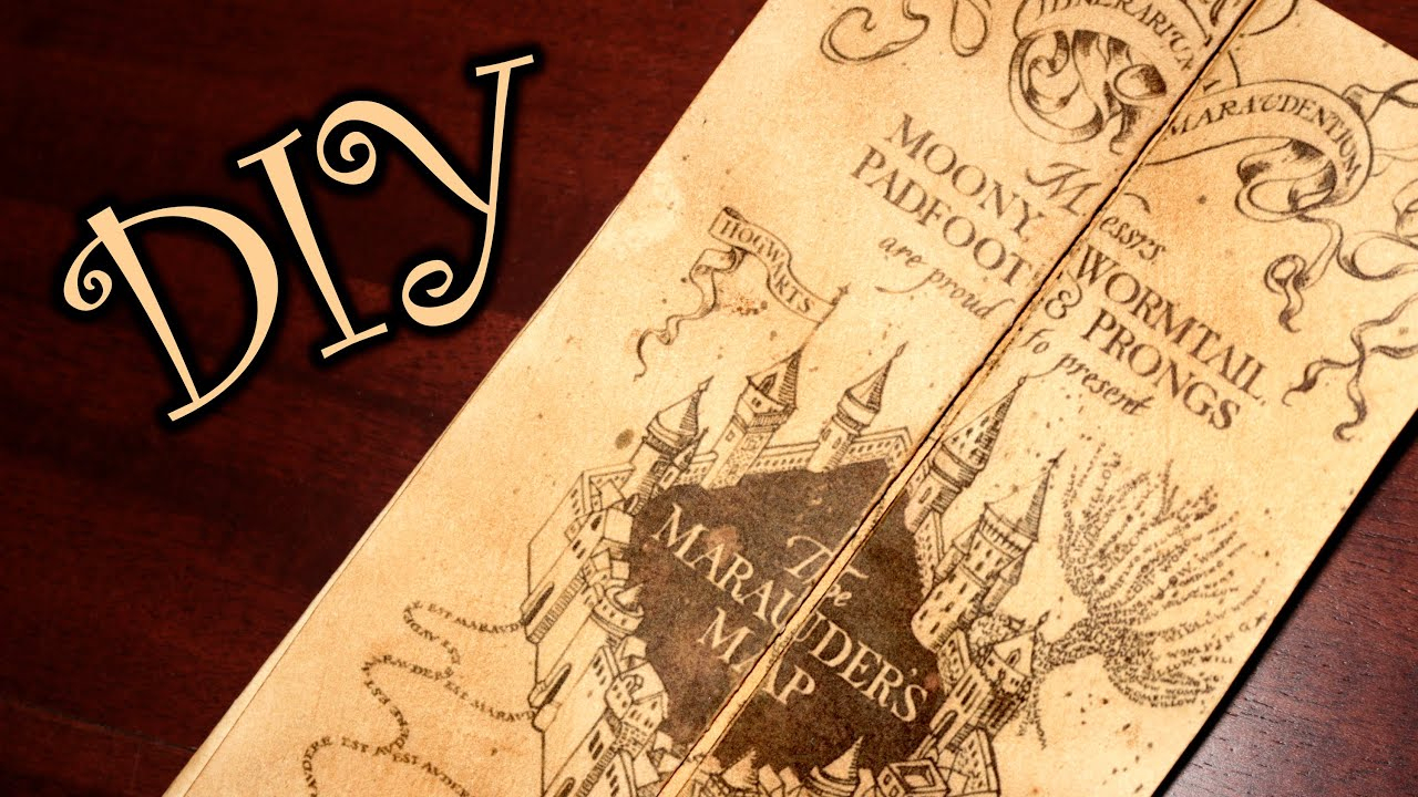 Harry Potter Marauder's Map - Diy - Youtube - Marauders Map Printable
