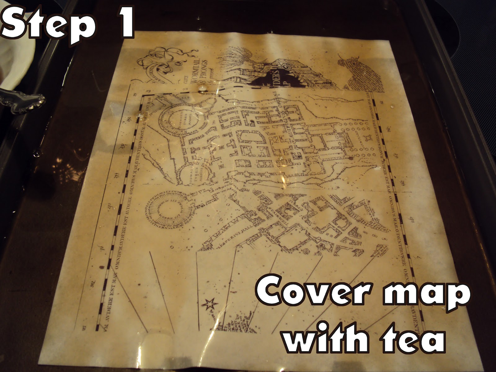 Harry Potter Paraphernalia: Marauder's Map: Inside And Outside - Marauders Map Printable