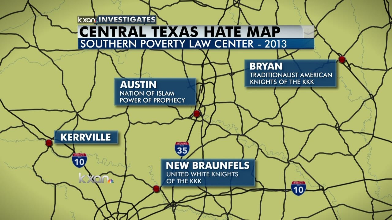 Hate Groups In Central Texas - Youtube - Map Of Hate Groups In Texas