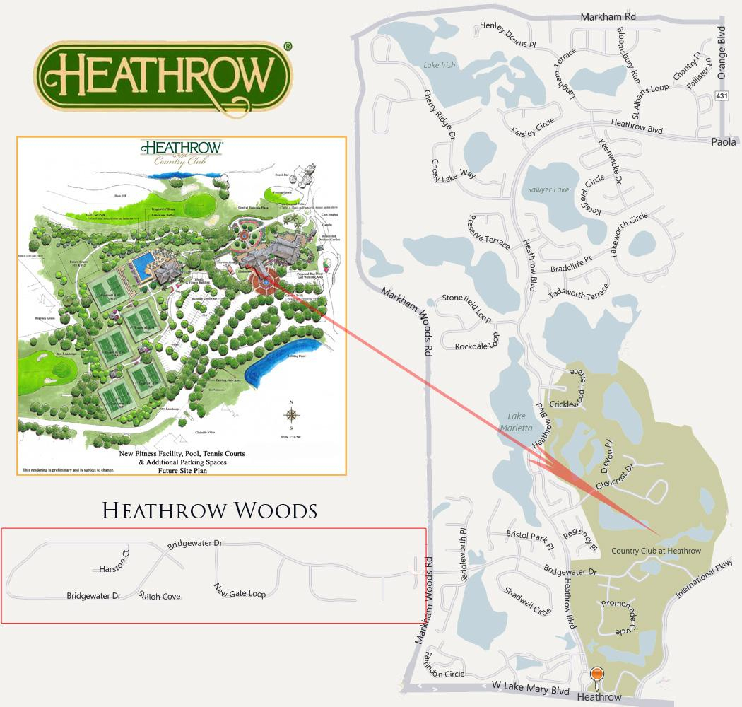 Heathrow Homes & Real Estate For Sale | Lake Mary Florida - Map Of Lake Mary Florida And Surrounding Areas