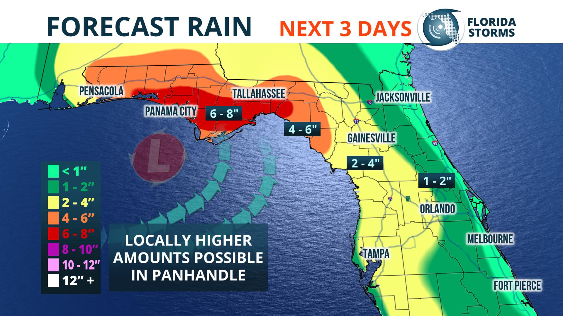 Heavy Rain, Possible Flooding This Weekend - Florida Storms - Flood Maps Gainesville Florida