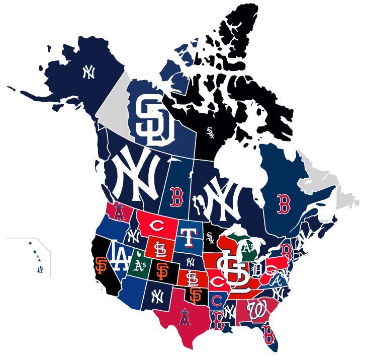 California Baseball Teams Map