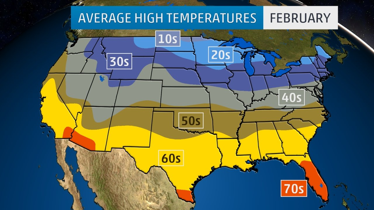 Here's What To Watch For In February's Weather | The Weather Channel - Florida Weather Map Temperature