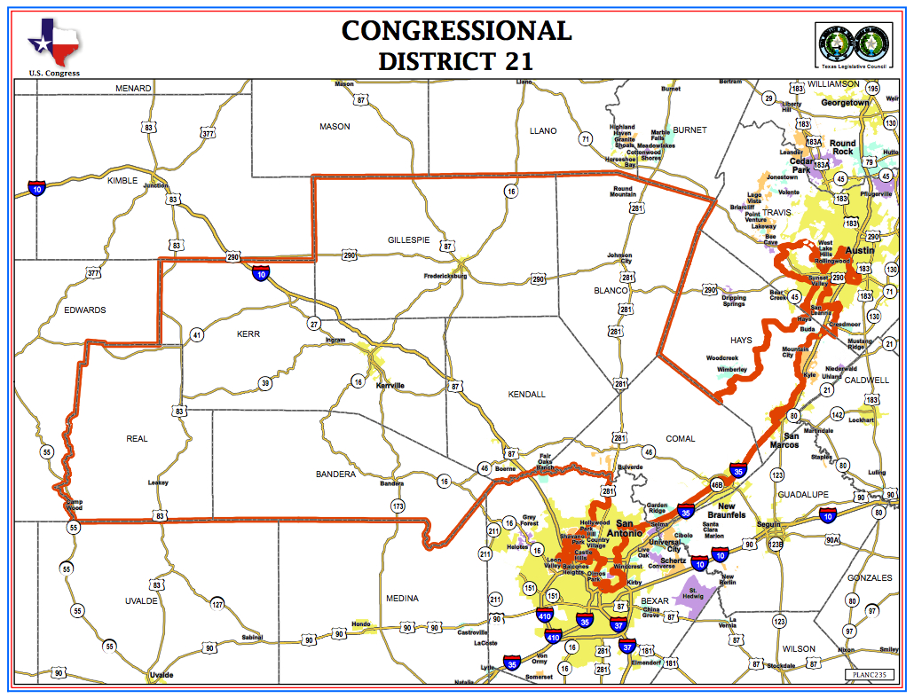 Here's Who's On The Ballot In Texas' Congressional District 21 Race - Texas Representatives District Map