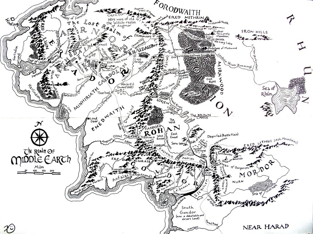 High Resolution Map Of Middle-Earth? : Lotr - Printable Map Of Middle Earth