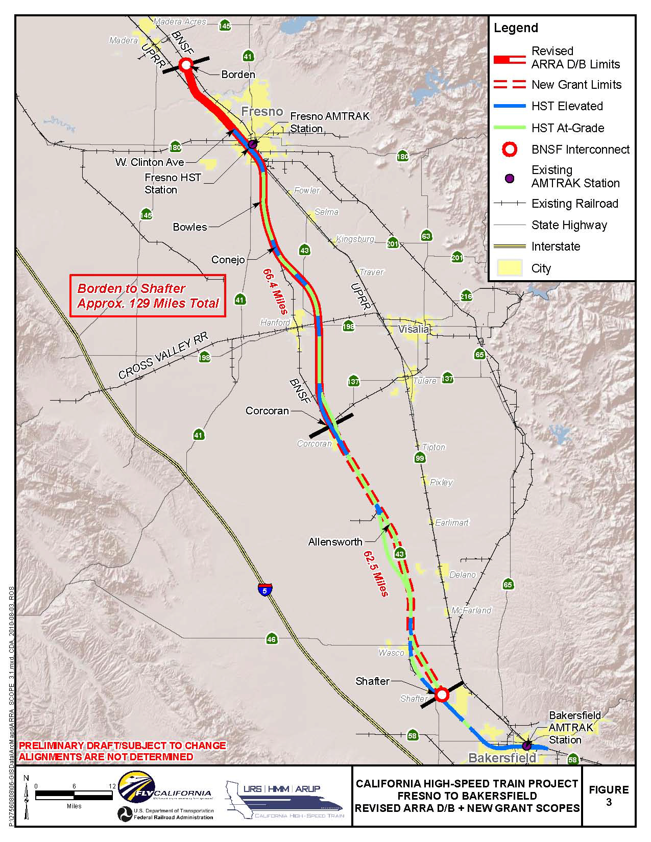 High-Speed Rail's Central Valley Section:      &nbsp - California High Speed Rail Project Map