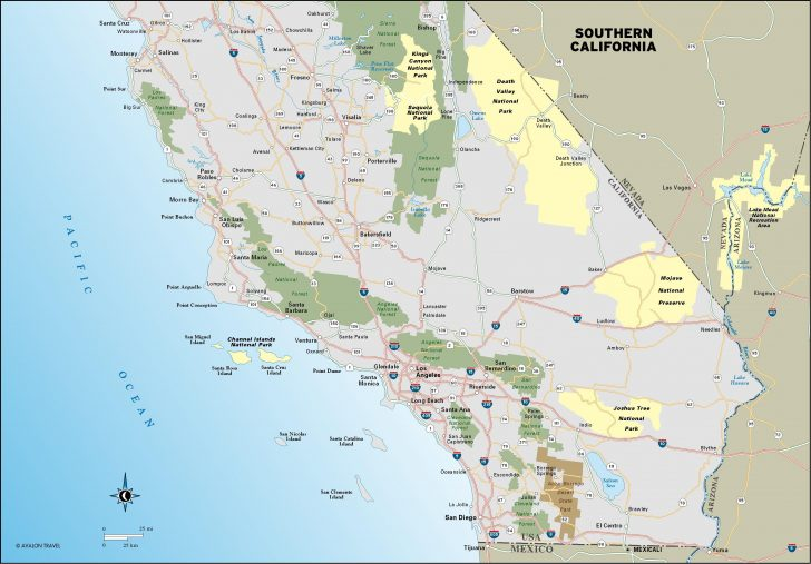 Highway 1 California Map