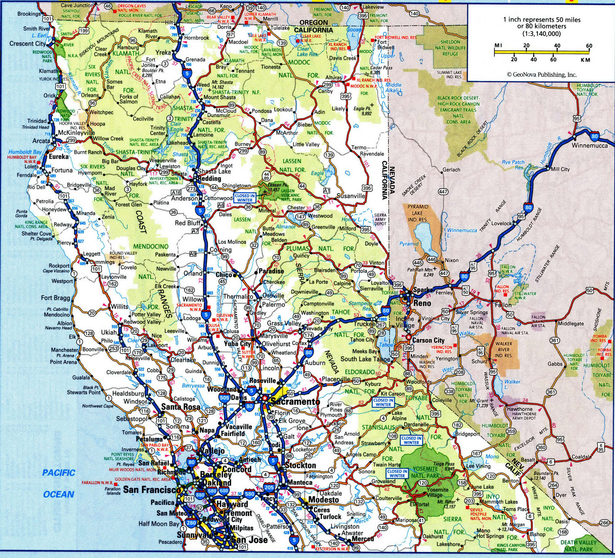 Highway Map Of Northern California Free Download N Californ Crc At - California Highway Map Free
