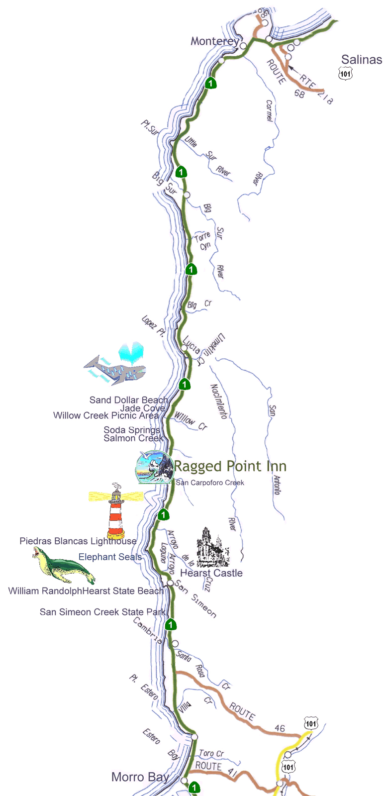 Highway Map Of Northern California Free Download N Californ Crc At - California Scenic Highway Map