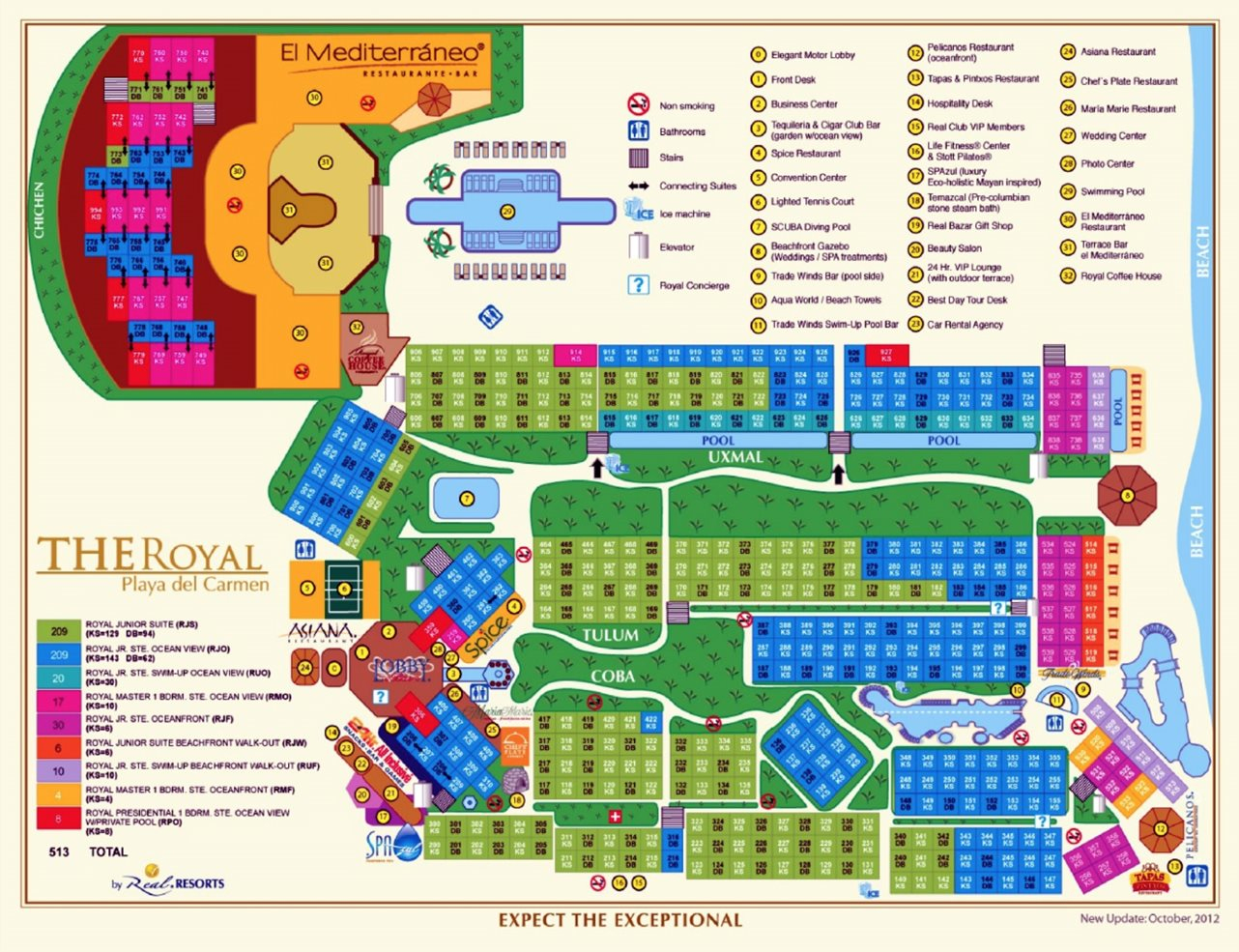 Hilton Playa Del Carmen - Riviera Maya | Transat - Printable Map Of Playa Del Carmen