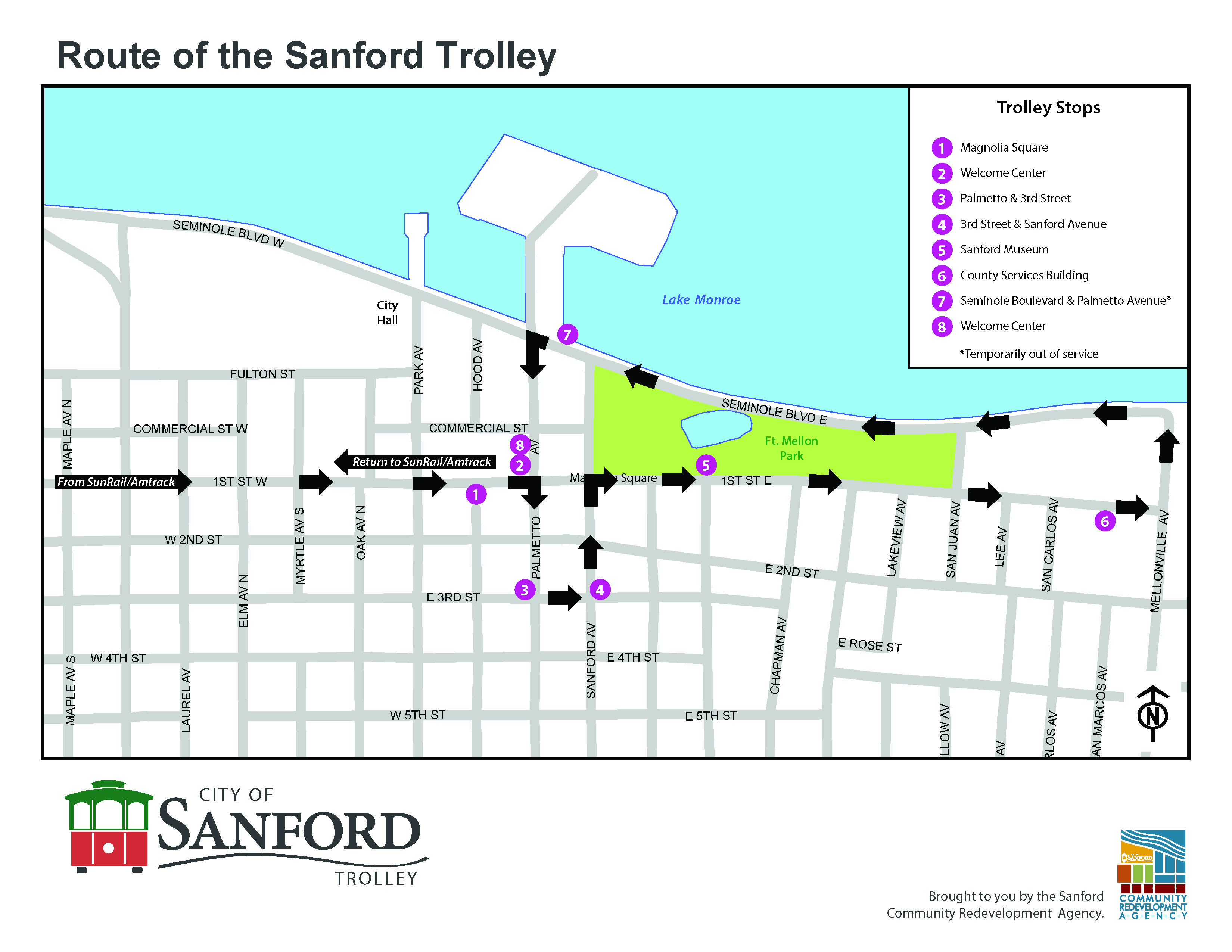 Historic Sanford Welcome Center - Home - Sanford Florida Map