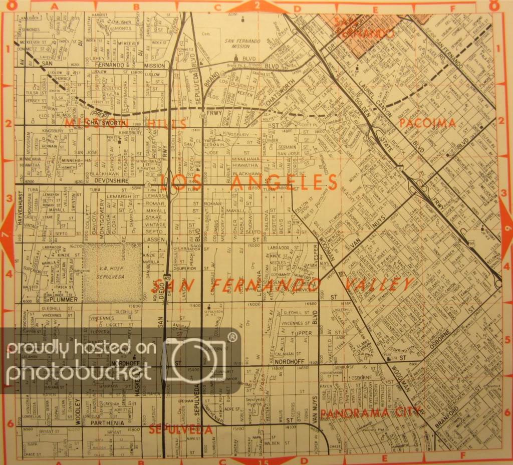 Historic Thomas Brothers Maps (56K Warning) - Thomas Guide Southern California Arterial Map