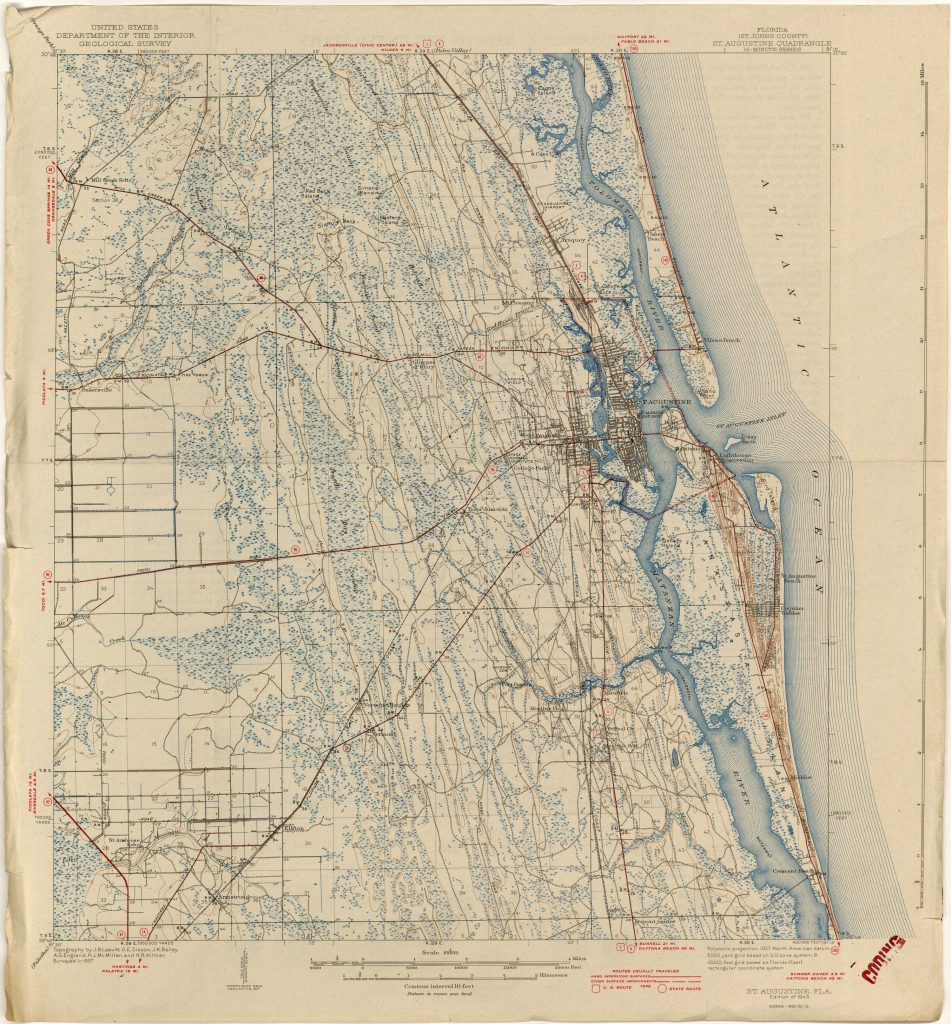 Historic Us Maps For Sale - Marinatower - Florida Maps For Sale