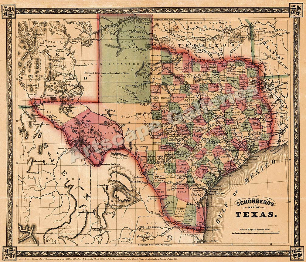 Historical Maps Of Texas | Business Ideas 2013 - Vintage Texas Maps For Sale