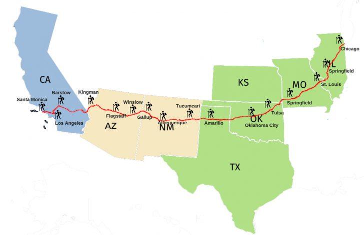 Historic Route 66 California Map