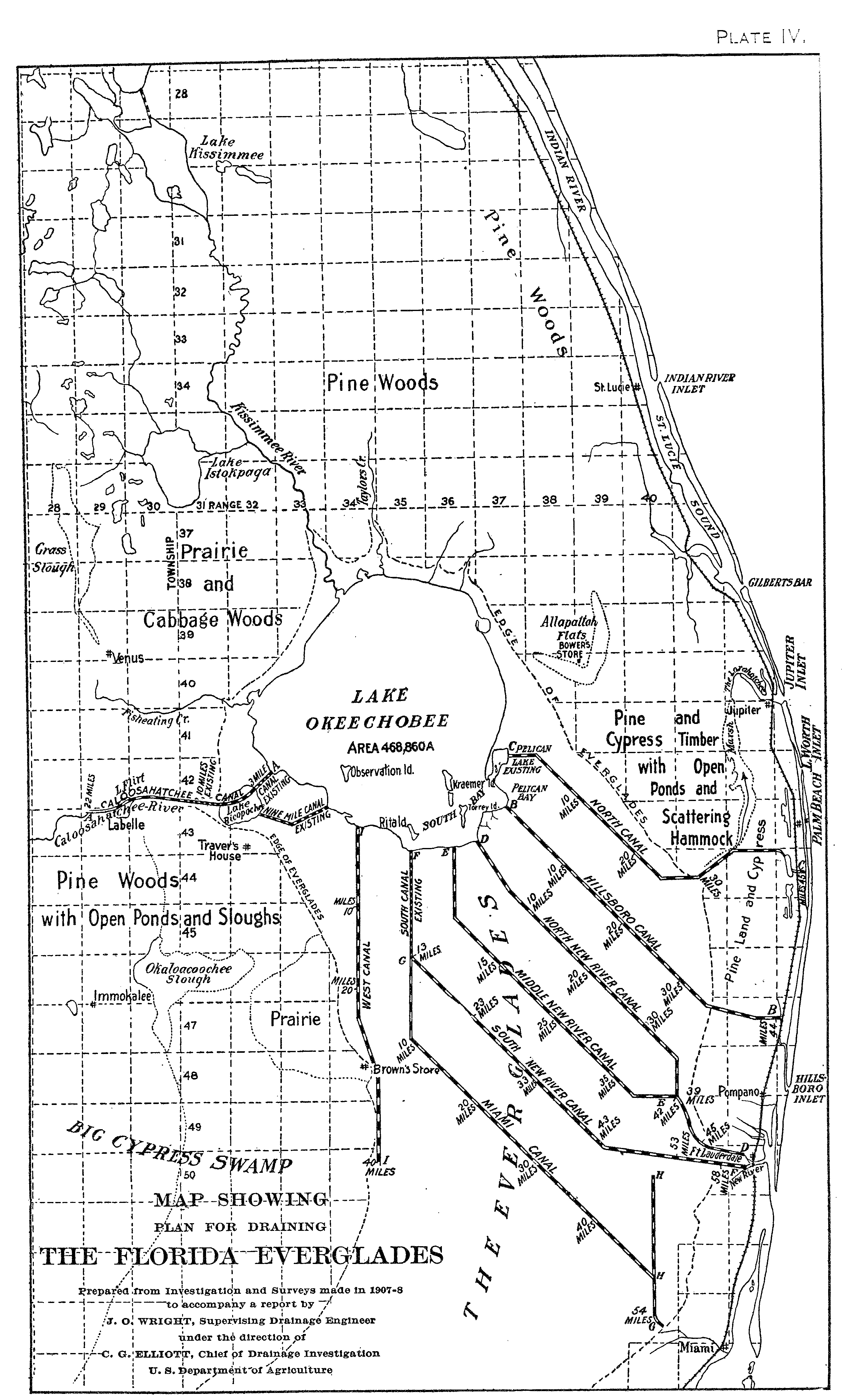 History Canals South Florida | Jacqui Thurlow-Lippisch - Map Of S Florida