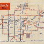 History Of Amarillo, Texas: Map Of Amarillo: C. 1956   1960   City Map Of Amarillo Texas