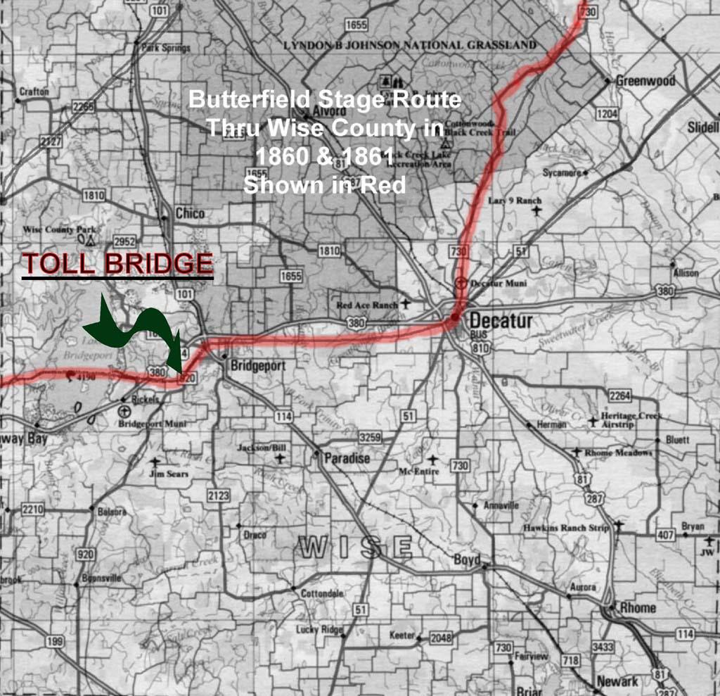 History Of Bridgeport, Texas - Bridgeport Texas Map