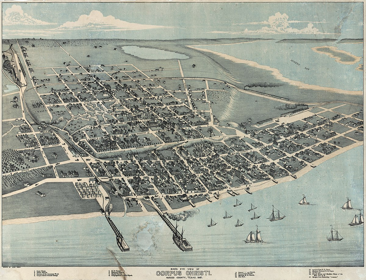 History Of Corpus Christi, Texas - Wikipedia - City Map Of Corpus Christi Texas
