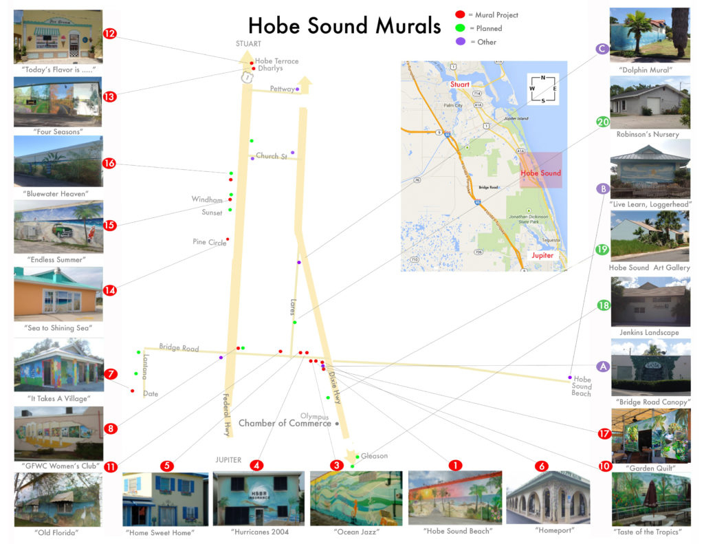 Hobe Sound Murals | Art & Culture | Martin County Florida - Map Of Florida Showing Hobe Sound
