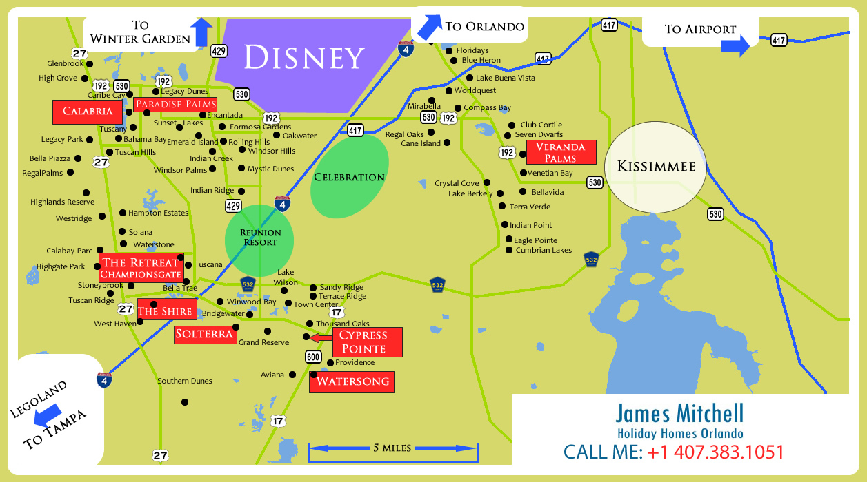 Holiday Homes In Orlando For Sale| Investment Properties In Orlando - Reunion Florida Map