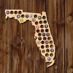Home Wet Bar Florida Beer Cap Map Wall Décor | Wayfair   Florida Beer Cap Map