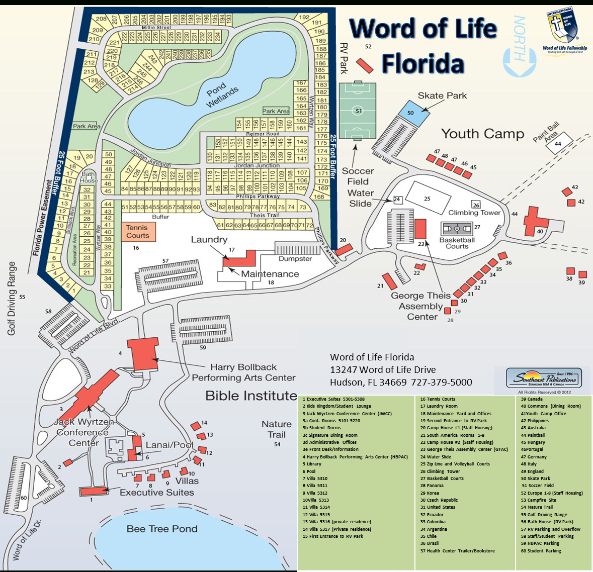 Home - Word Of Life Florida - Youth Camp, Bible Institute, Events - Hudson Florida Map