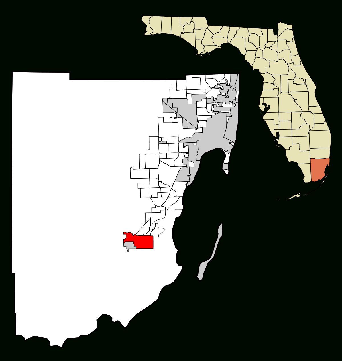 Homestead, Florida - Wikipedia - Homestead Florida Map