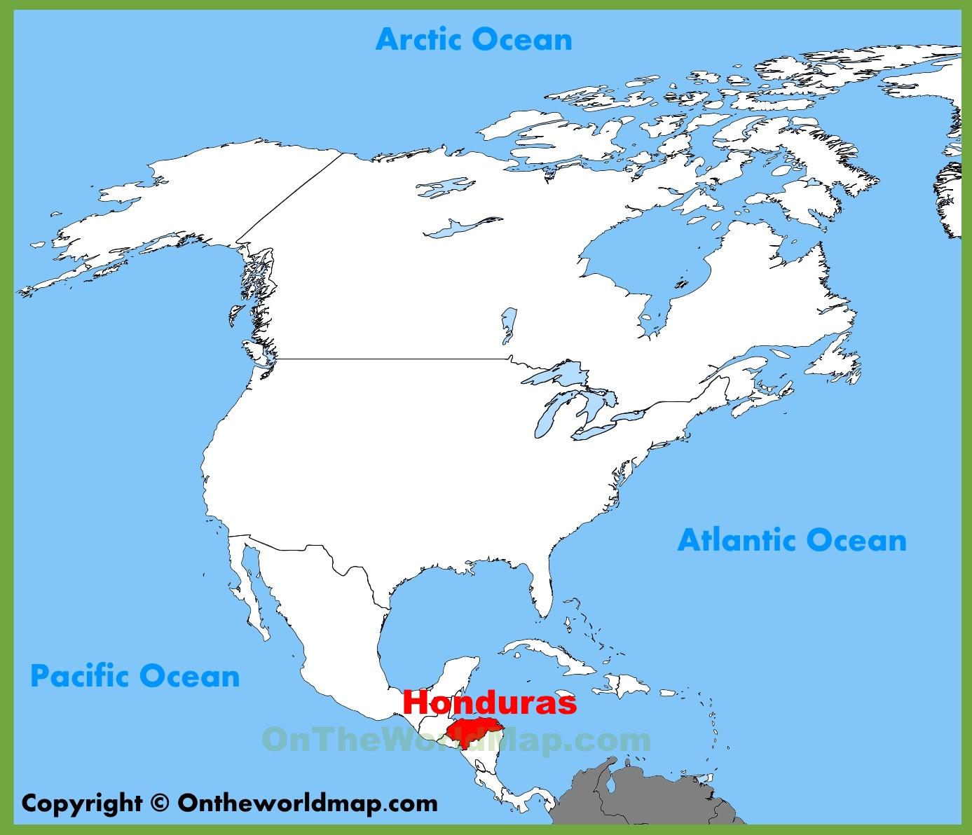 Honduras Maps   Maps Of Honduras - Printable Map Of Honduras