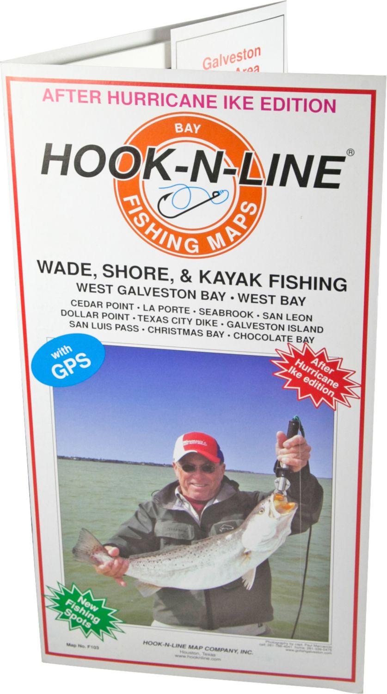 Hook-N-Line Map F103 Wade Fishing Map Of West Galveston Bay - Texas Wade Fishing Maps