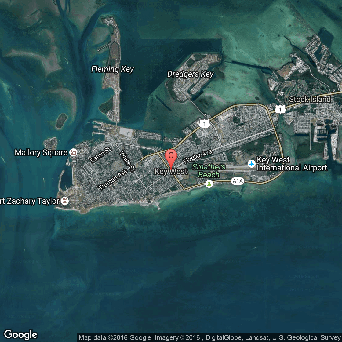 Hotels Near Mallory Square, Key West   Usa Today - Map Of Hotels In Key West Florida