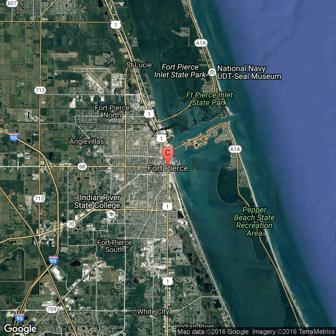 Hotels On The Oceanfront Of Fort Pierce, Florida | Usa Today - Where Is Ft Pierce Florida On A Map