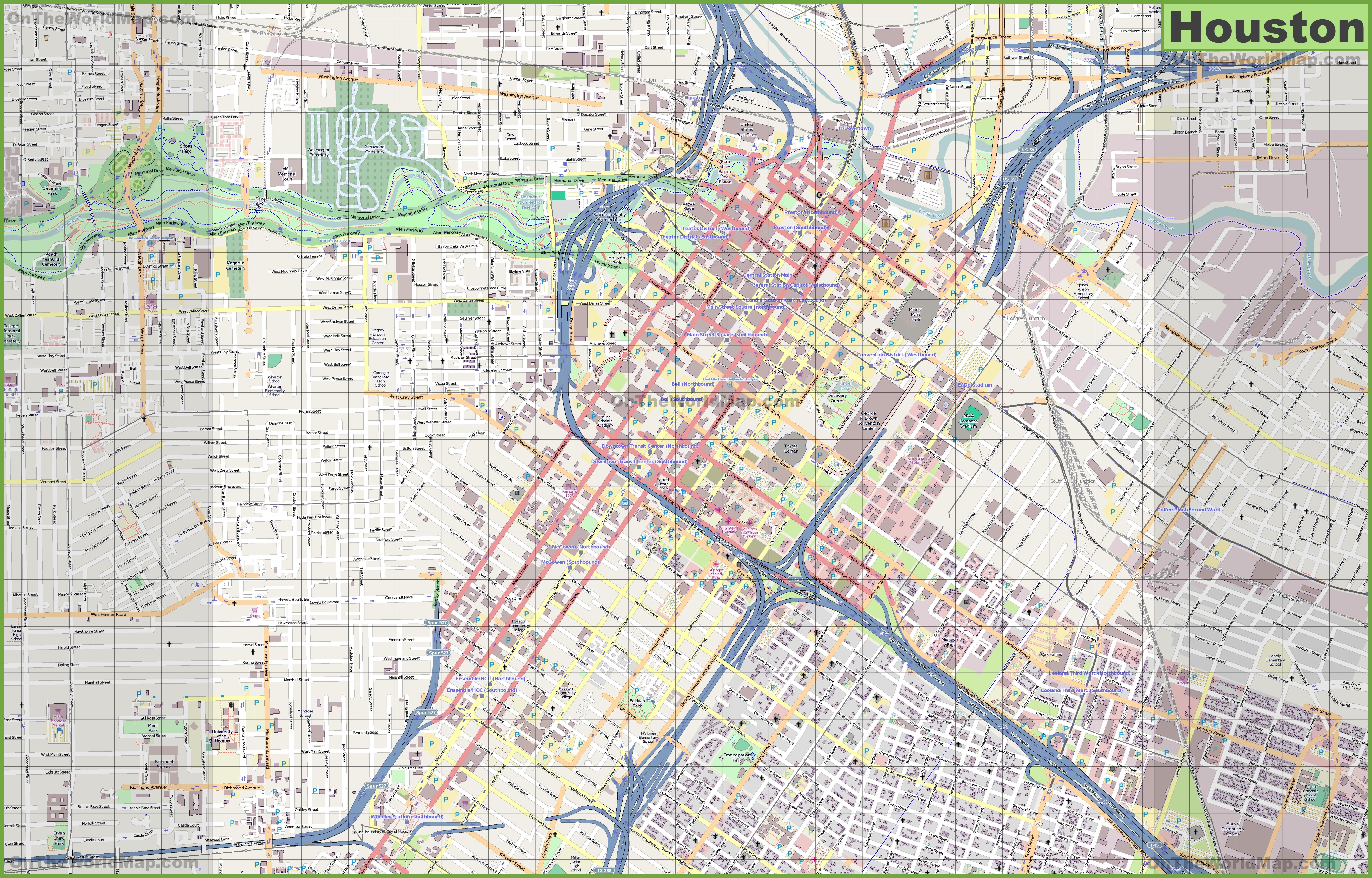 Houston Maps | Texas, U.s. | Maps Of Houston - Street Map Of Houston Texas