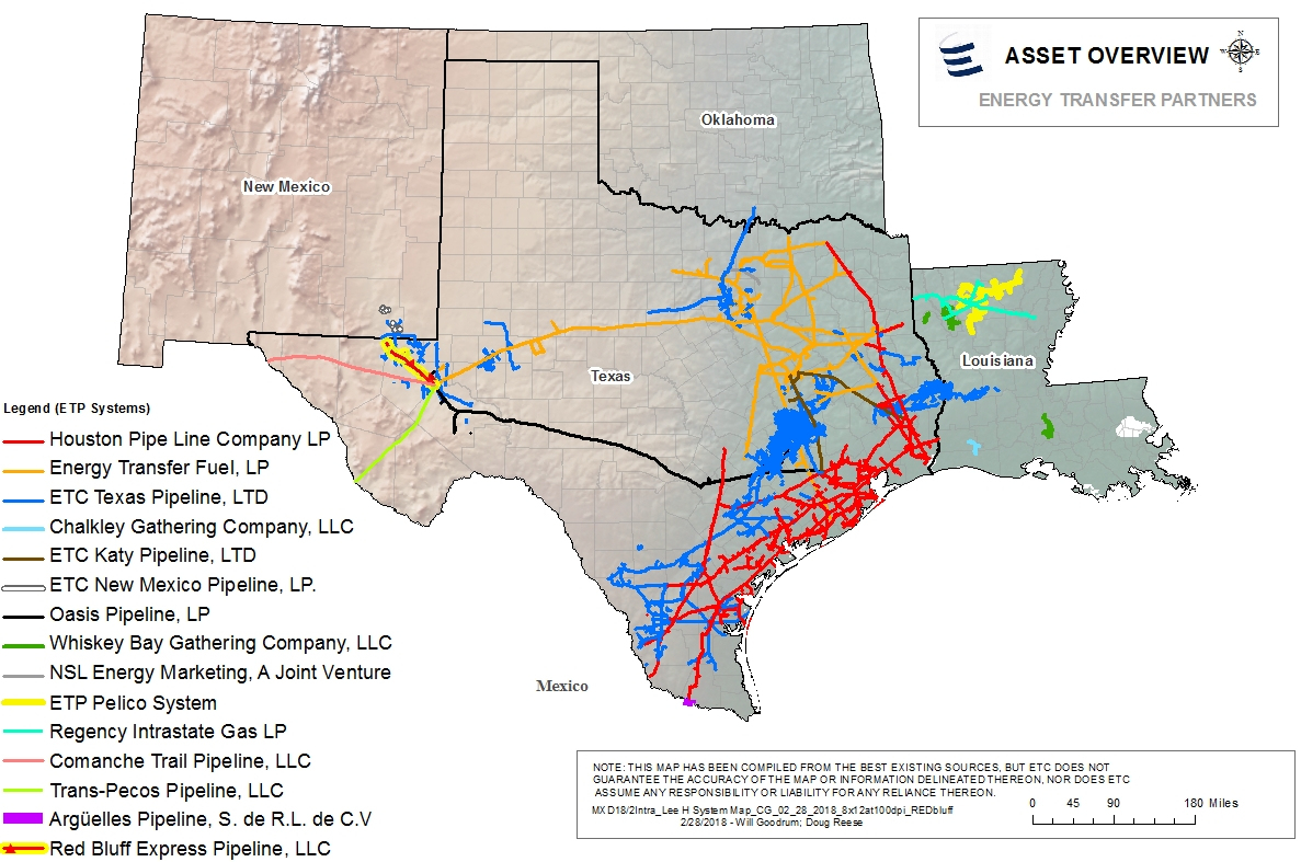 Houston Pipe Line Company Lp - Texas Gas Pipeline Map