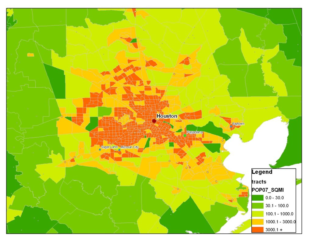 Houston Population 2018 Texas • Live Population - Texas Population Heat Map