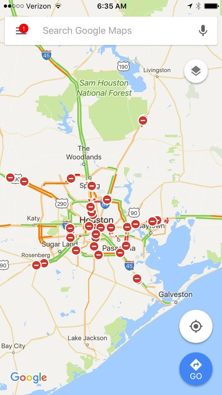 Houston, Tx Right Now. : Googlemaps - Google Maps Galveston Texas