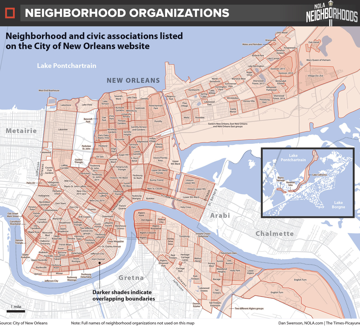 How Do We Map New Orleans? Let Us Count The Ways. - Nola - New Orleans Street Map Printable