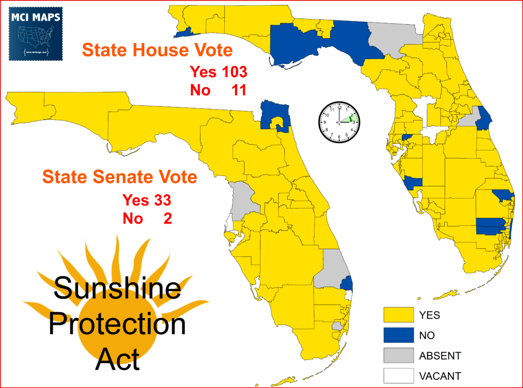How Florida's Desire To Make Daylight Savings Time Permanent Would - Florida Zone Map