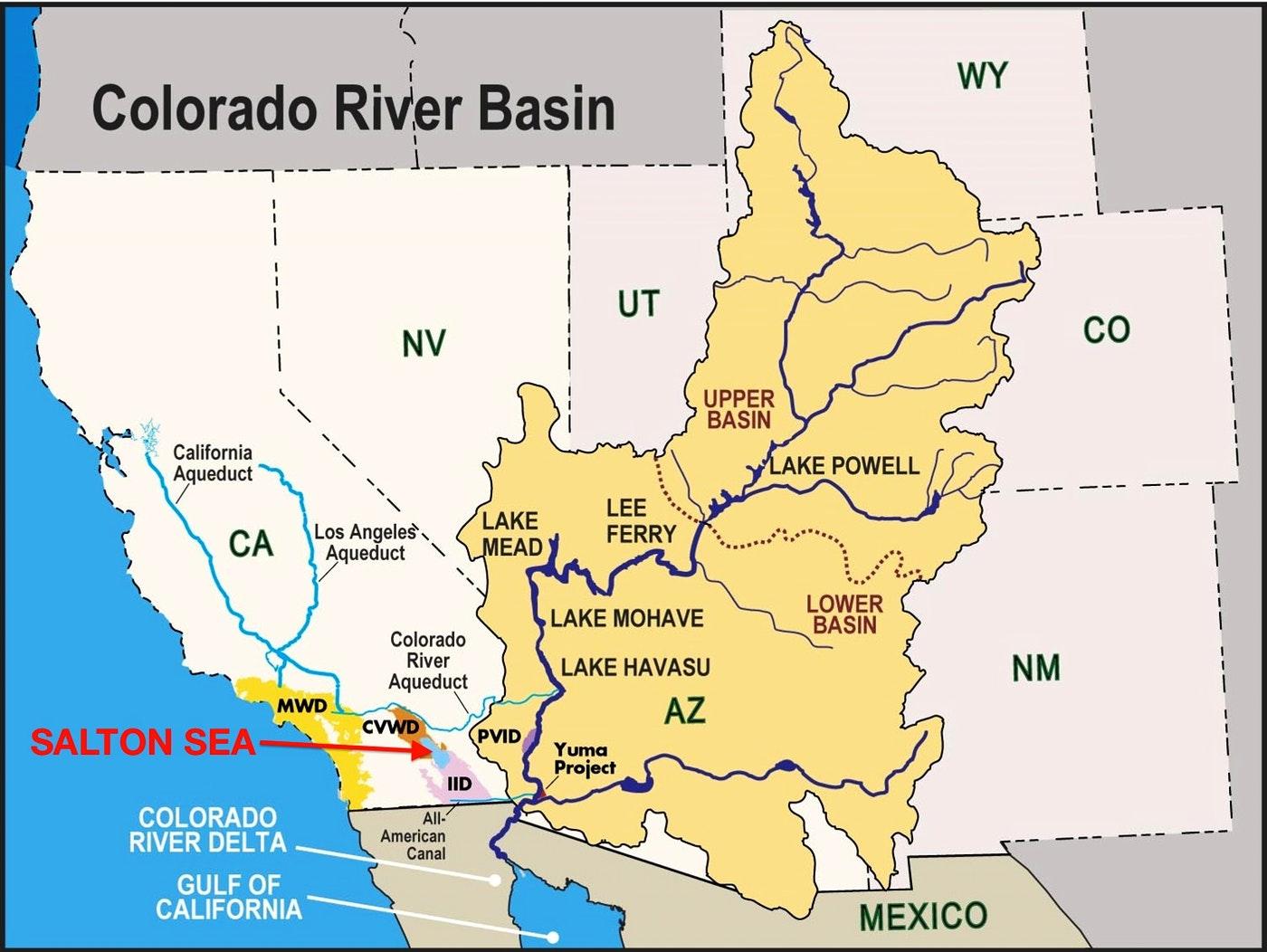 How The Colorado River's Future Depends On The Salton Sea — Water Deeply - Salton Sea California Map
