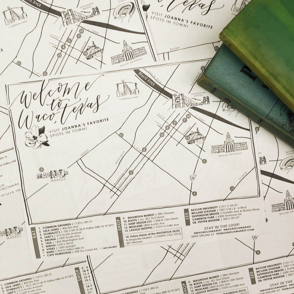 How The Market Came To Be + Joanna's Favorite Waco Places - Magnolia Texas Map
