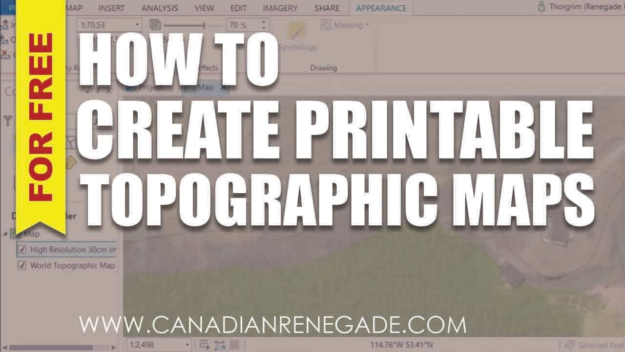 How To Create A Printable Topographic Map In Arcgis Pro - Youtube - How To Create A Printable Map