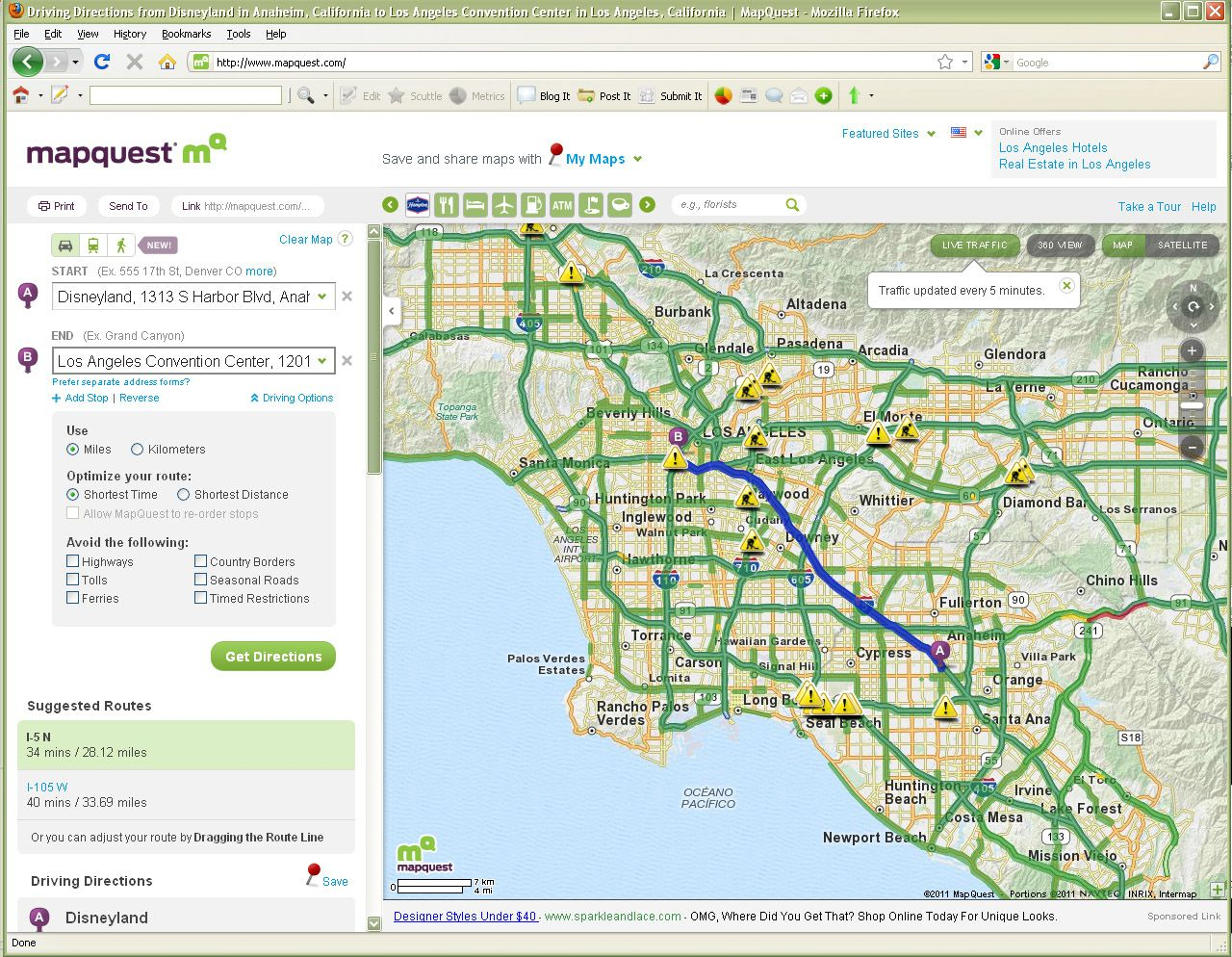 How To Use Mapquest To Create Printed Driving Directions - Mapquest California Map
